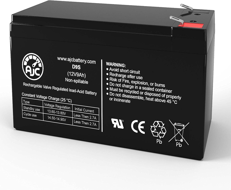 AJC Battery Compatible with Liebert GXT2-10000RT208 one GXT2-288RTBKIT 12V 9Ah UPS Battery