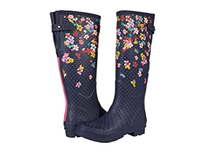 Joules Welly Print (Navy Blossom) Women
