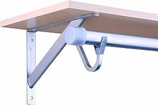 John Sterling Closet-Pro HD RP-0495-PM Heavy Duty Shelf & Rod Bracket, Platinum