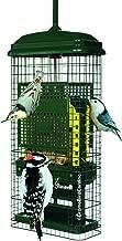Squirrel Buster Squirrel-Proof Bird Feeder, 2 Suet Trays, 2 Crumb Ports, Green