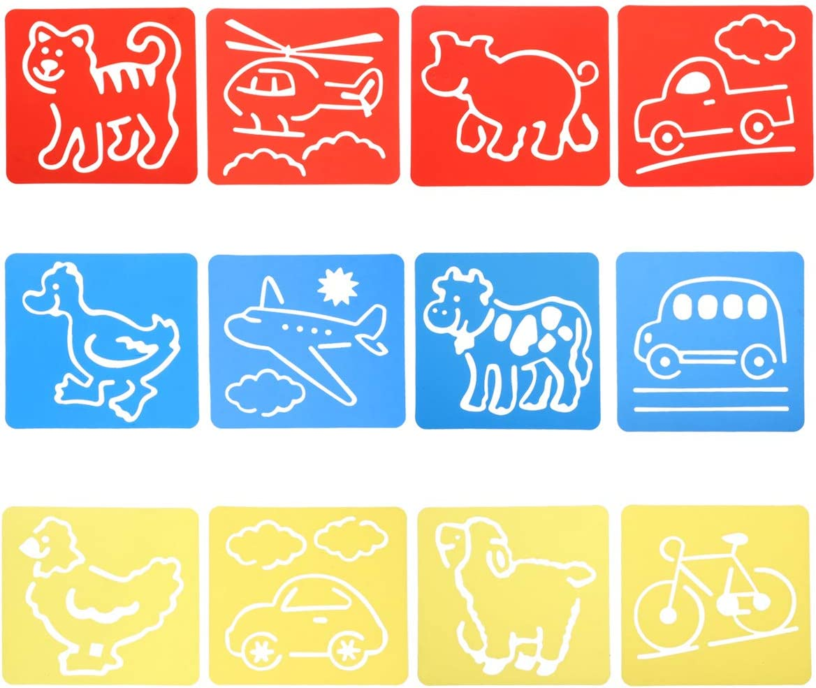 Ranking TOP3 Healifty 12PCS Manufacturer regenerated product Children's Painting Hollow Template Board Christm