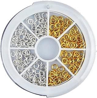 enForten 150Pcs 3.5mm Mini Open Ring Design Stud For Acrylic UV Gel Nail Art