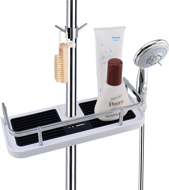 LEEFE Duschkorb Badezimmerablage Duschablage Korb Badezimmer, ohne Bohren  zu montieren, geeignet für 20mm ~ 20mm Zaun
