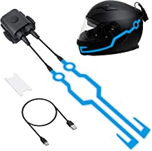 NTHREEAUTO Rechargeable Helmet EL Light Strip Night Riding Signal for Motorcycle Bicycle Helmets Decoration Accessories, Blue