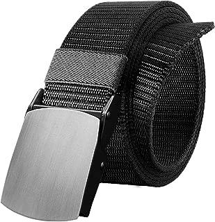 OUFO Nylon Military Tactical Men Belt Webbing Canvas Plastic/Metal Buckle