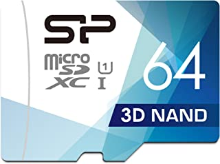 Silicon Power 64GB 3D NAND High Speed MicroSD Card with Adapter R/W up to 100 and 80 MB/s