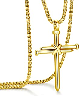 Best gold nail cross necklace Reviews