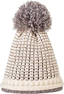 Winter Hats Women Double-Layer Thickening Beanie Hat Fashion Plaid Knitted Wool Hat Cap for Girls