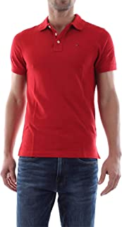 Tommy Hilfiger Polos For Men, Red S (DM0DM05232 ESSENTIAL POLO - S)
