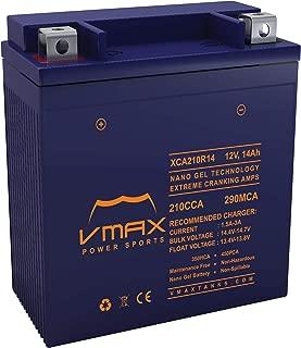 VMAX XCA210R14 Motorcycle Battery Upgrade compatible with Honda 750cc VF750C V45 Magna (1982-1984) 12V 14ah Nano gel Battery