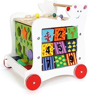 Mela da infiliare in legno gioco bambini stimola motricità Legler 2646