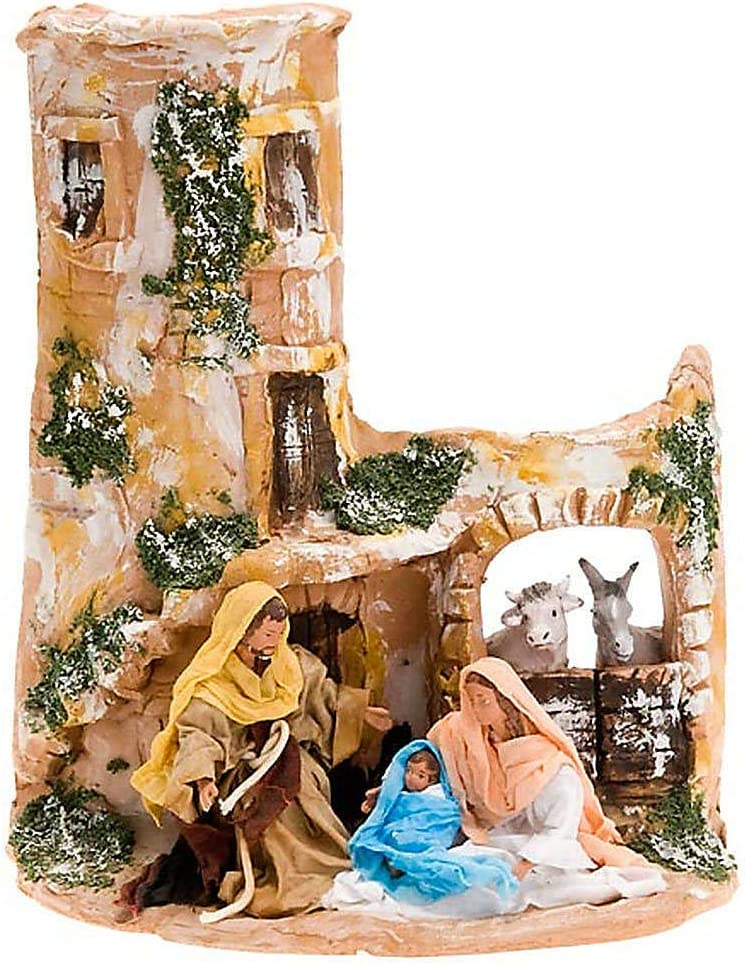 Nativity Scene Deruta Holy Family Popular brand in the world Super Special SALE held ox and Ass