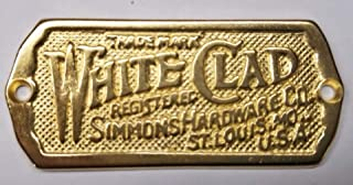 Antique Ice Box Name Plate, Solid Brass, Ice Box Label in Non Lacquered Brass, Reproduction of Antique White Clad Ice Box Hardware, Beautiful Cabinet Name Plate