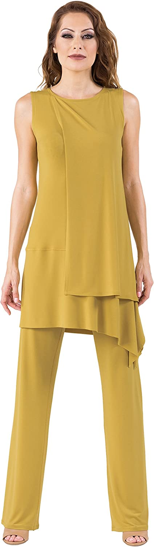 Eva Varro Women's Side Drape Overlay Tunic