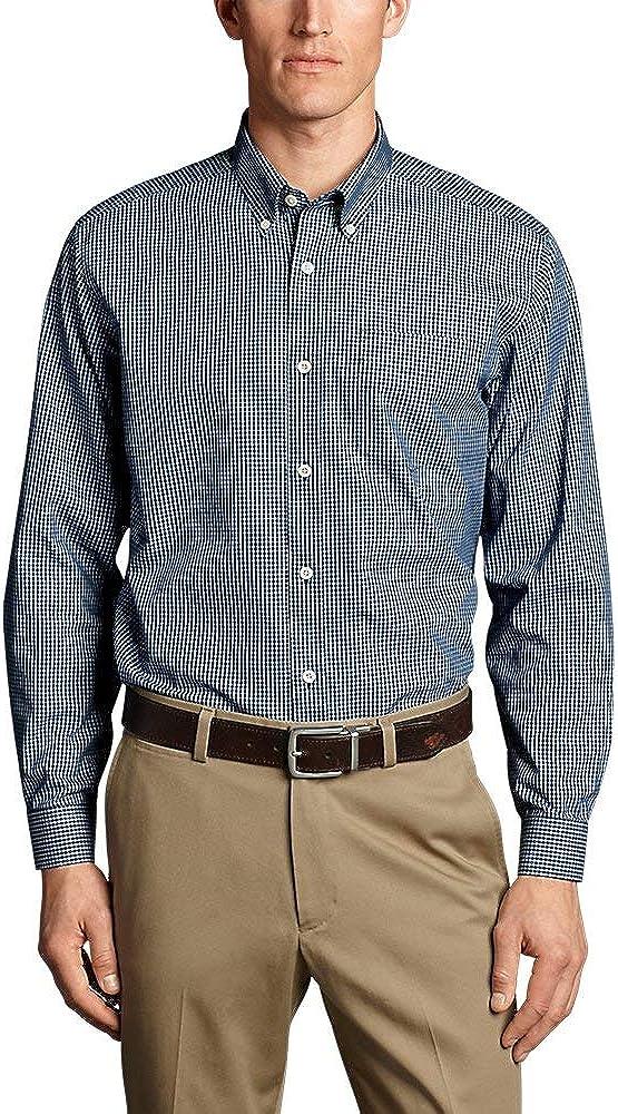 Eddie Bauer Men's Wrinkle-Free Classic Fit Pinpoint Oxford Shirt - Blues Deep Sea XXXL XXX-Large