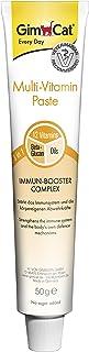 GimCat pasta multivitaminas , Aperitivo para gatos nutritivo con vitaminas, elementos reconstituyentes y fibra de origen vegetal , 1 paquete (1 x 50 g)
