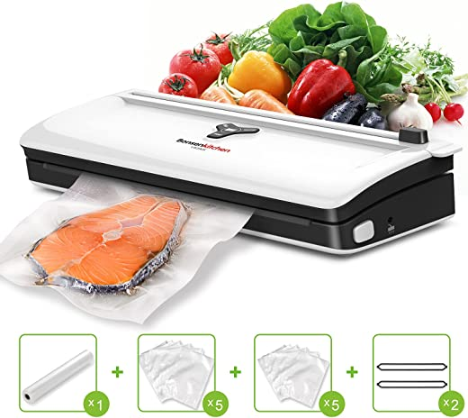 Automatic Food Vacuum Sealer Machines Air Sealing For Food Preservation w Start Kits Sous Vide Vacuum Packing Machines w Dry & Moist Modes