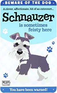 Wags and Whiskers Schnauzer Sign, Large, Multicolor
