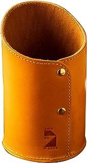 [アム デ マス] ペン立て 栃木レザー 円筒 本革 レザー 日本製 小物 ペンホルダー ハンドメイド シンプル PH-023 キャメル
