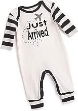 Tesa Babe Airplane Romper for Newborn & Baby Boys w/Black Stripes