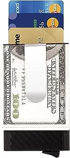 Slim Money Clip Card Holder - Carbon Fibre Card Case ManChDa RFID Bloking Mens Front Pocket Wallet