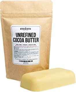 Unrefined Cocoa Butter - Use on Pregnancy Stretch Marks, Make Moisturizing Lotion, Chap Stick, Lip Balm and Body Butter - ...