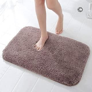 DADA Bath Mat Bathroom Rug Non-Slip Absorbent Luxury Soft Fluffy Microfiber Machine Wash Carpet 24x35.5 Brown