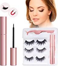 Magnetic Eyeliner Kit, Magnetic Eyeliner With Magnetic Eyelashes, 3D Magnetic Eyelashes Magnetic Lashliner for Use with Magnetic False Lashes