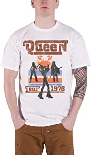 Queen T Shirt Tour 1976 Silhouettes Band Logo Vintage 新しい 公式 メンズ