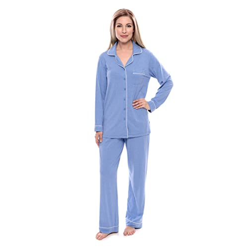 Women s Button-Up Long Sleeve Pajamas - Sleepwear Set by Texere  (Classicomfort) 53b10fc45
