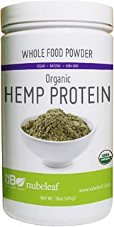 Nubeleaf Hemp 40% Protein Powder - Non-GMO, Gluten-Free, Raw, Organic, Vegan Source of Fiber & Essential Amino Acids - Sin...