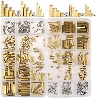 Hilitchi 360pcs M2 M3 M4 Male Female Brass Spacer Standoff Screw Nut Assortment Kit