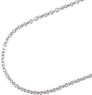 JFSG 316L Stainless Steel Oval Link Chain Necklace for Men Or Women 3.5/4/5mm 22 24 26 28 Inches