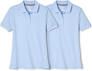 French Toast Girls' Short Sleeve Stretch Pique Polo-2 Pack