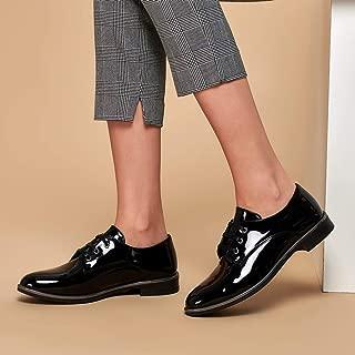 19K-198 Siyah Kadın Oxford Ayakkabı