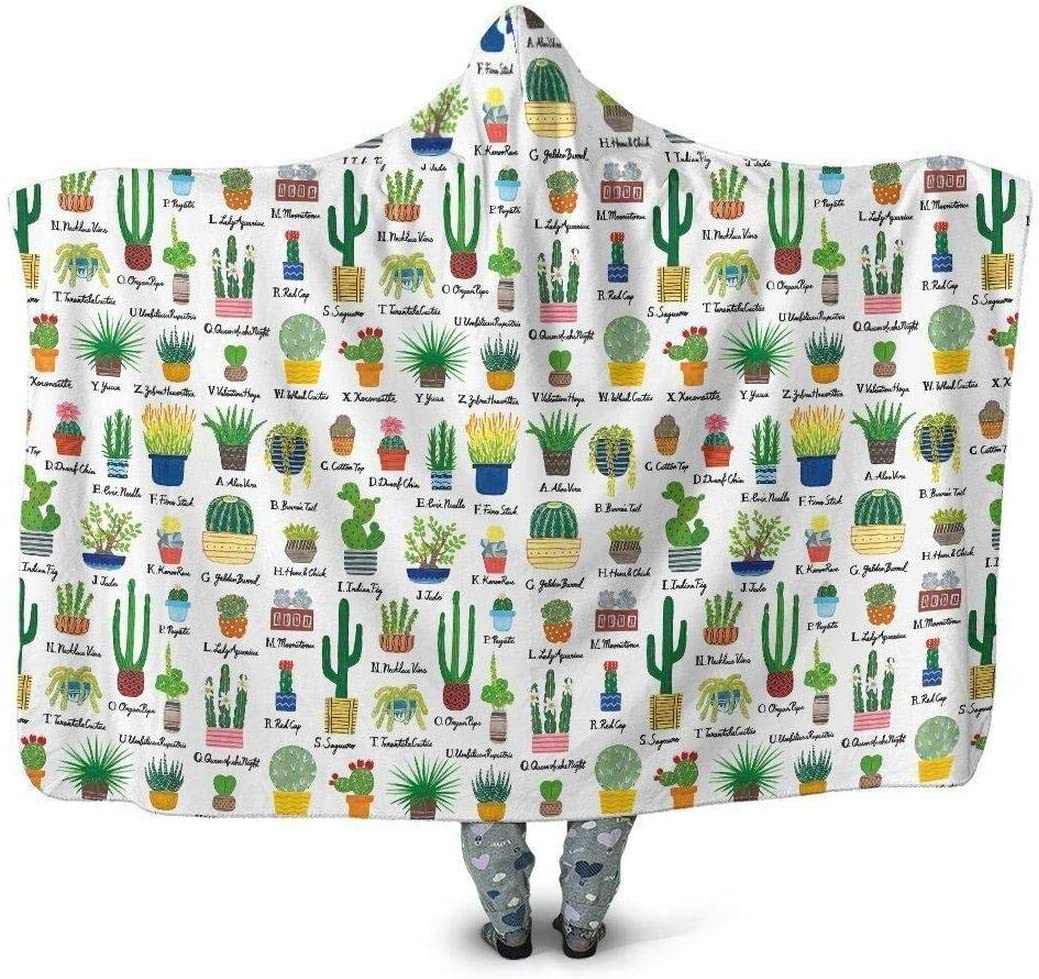 Personalized Beautiful Cactus Choice Hooded Blanket Ultra-Cheap Deals Daughter She Son to