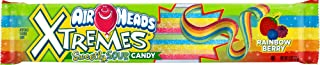 Airheads Xtremes Sweetly Sour Candy Belts, Rainbow Berry, Stocking Stuffer, Gift, Holiday, Christmas, 2 Ounce (Bulk Pack o...