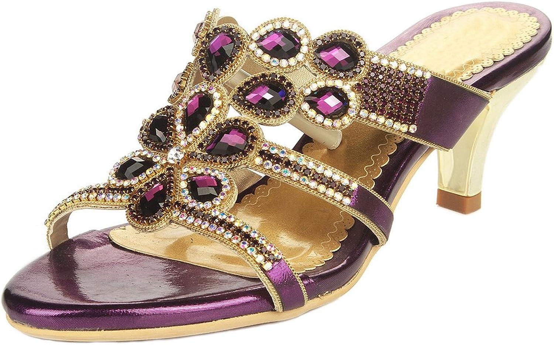 LizForm Women Comfort Crystal Wedding Bride Bridesmaid Fashion Party Dress Slide Sandals