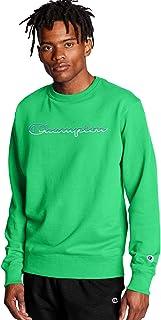 Champion Mens GF88H Powerblend Graphic Crew Sweatshirt