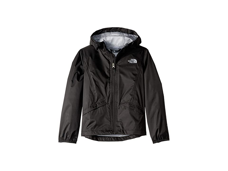 The North Face Kids Zipline Rain Jacket (Little Kids/Big Kids) (TNF Black) Girl