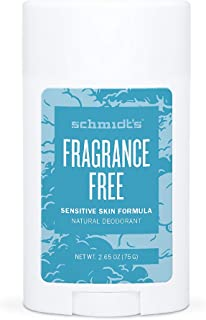 Schmidt's - Desodorante Natural en Barra para Pieles Sensibles Sin Perfume Vegano - 75 g