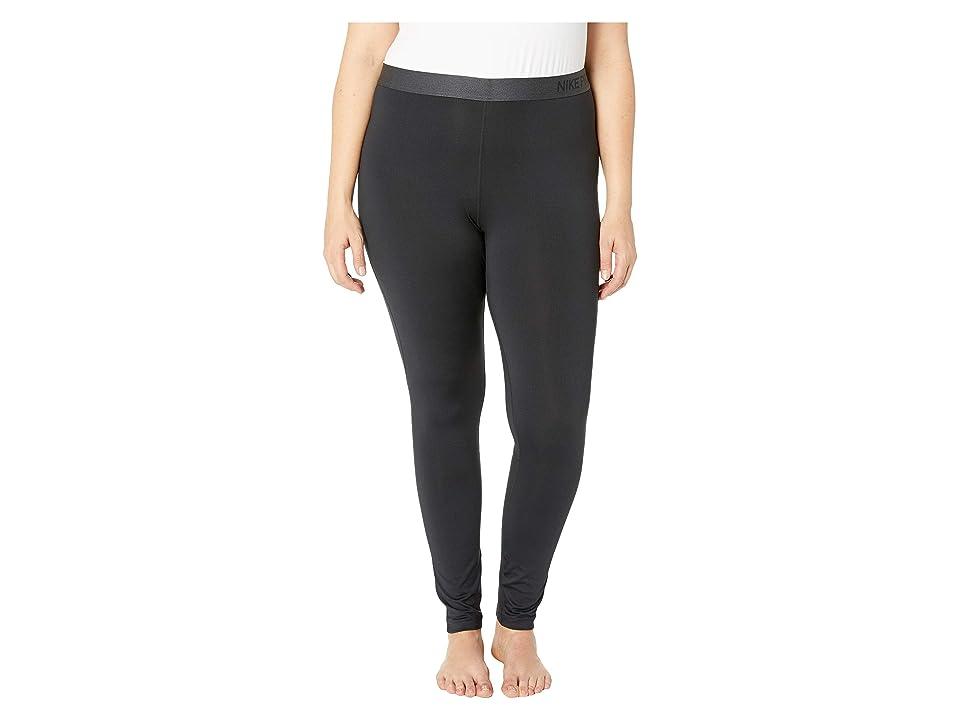 Nike Pro Tights (Size 1X-3X) (Black/White) Women