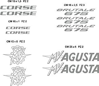 10 cm Pegatinas de pegatinas de moto GP super ataum.wb MV Agusta motor cycle prefieren adhesivo