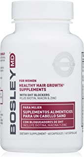 BosleyMD Healthy Hair Growth Supplements, 60 Day Supply (Packaging May Vary)