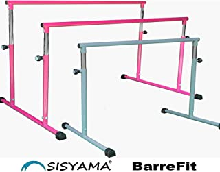 SISYAMA 43.5in/117in Ballet Barre Single/Double/Parallel Bar Portable Freestanding Adjustable Kid Adult Workout Fitness Stretch Dance