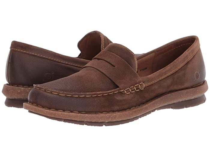 Born  Tok (Rust Distressed) Womens Flat Shoes