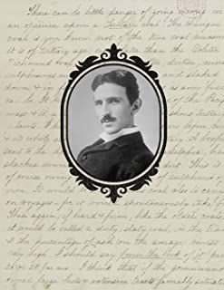 2020 Weekly Planner: Nikola Tesla | 12 Months | 107 pages 8.5 x 11 in. | Inventor | Diary | Organizer | Agenda | Appointment | Half Spread Wide Ruled Pages
