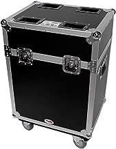 Flight Case w/Wheels For (2) Chauvet Pro Rogue R1 Wash Moving Head Lights