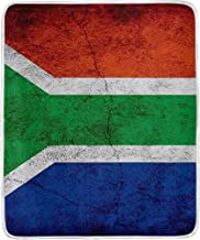 Flag of South Africa Rustic Plush Throw Blanket Bed Couch Sofa for Summer Thick Living Room Bedroom Home Fluffy Winter Fall Chair Bedspread