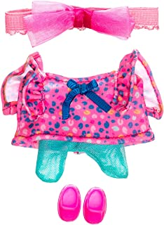 Nerlie Pink Dress with Beautiful Bandana and Spots Motif Wear Clothing 2021 Collection for...